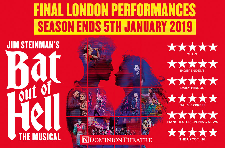 Bat Out Of Hell the musical to close in London