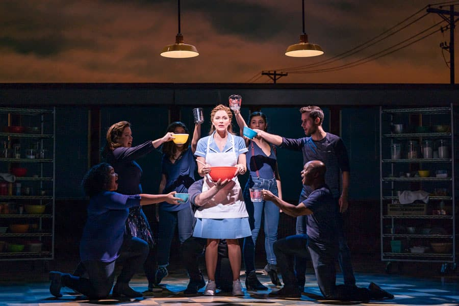 First Look Katharine Mcphee In Waitress The Musical Adelphi Theatre