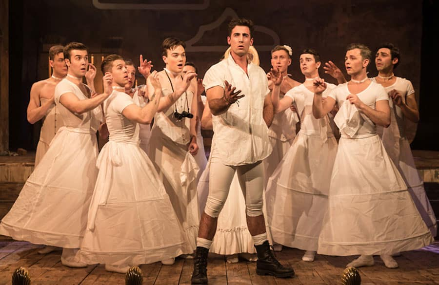 All male Pirates Of Penzance review Wilton's Music Hall