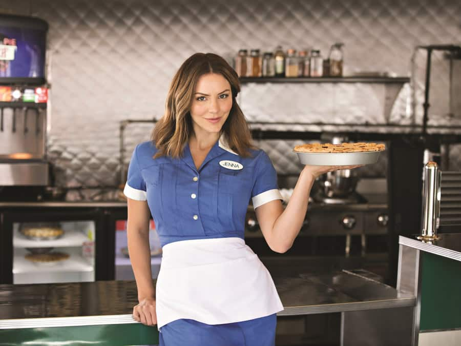 Katharine McPhee departs Waitress London on 15 June 2019