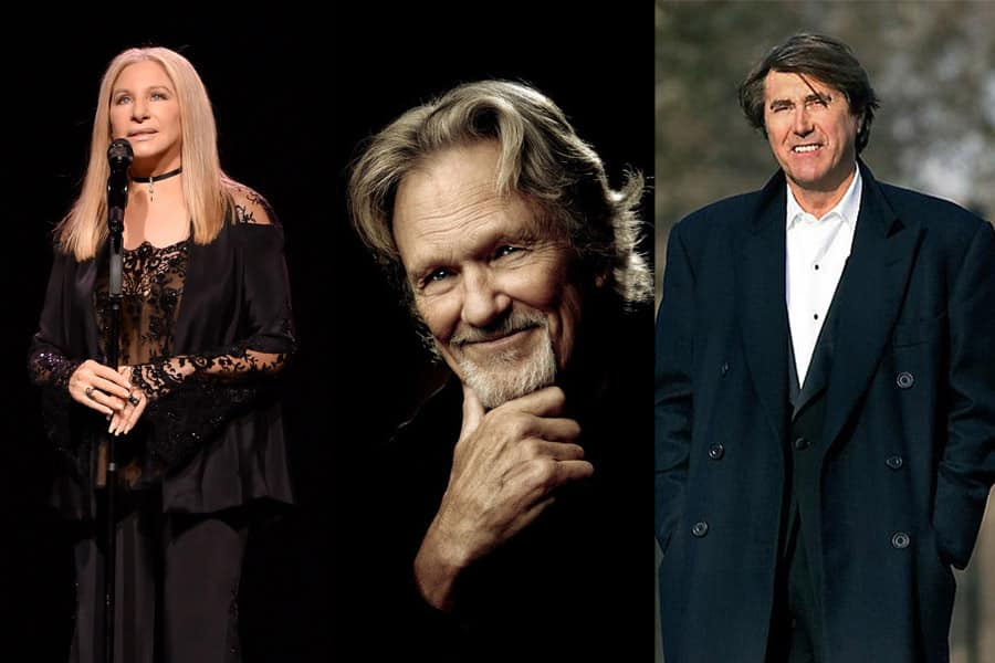 Kris Kristofferson and Bryan Ferry join Barbra Streisand in Hyde Park this summer.