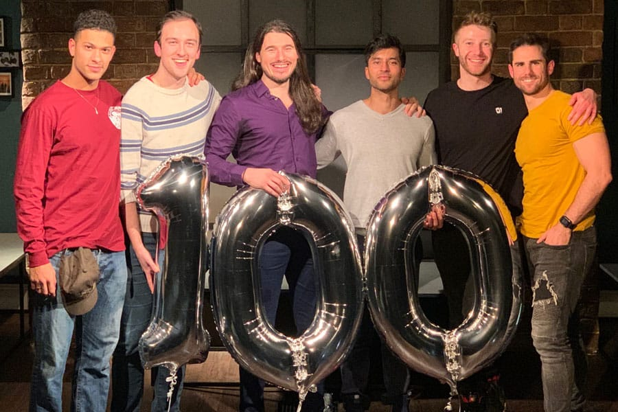 Afterglow 100th performance Waterloo East Theatre