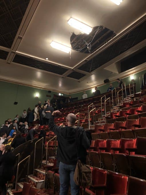 Piccadilly Theatre Ceiling Collapses.
