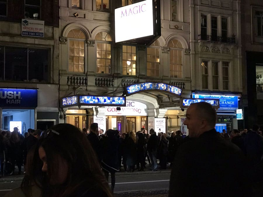 Vaudeville Theatre London ecacuated