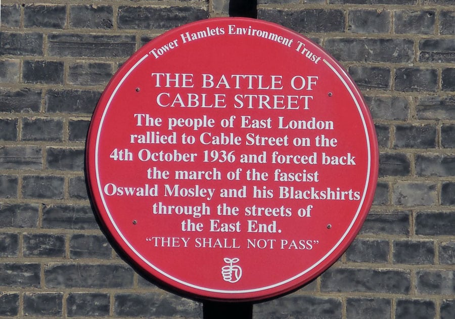Battle Of Cable Street Plague