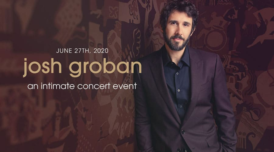 Josh Groban intimate streamed concert