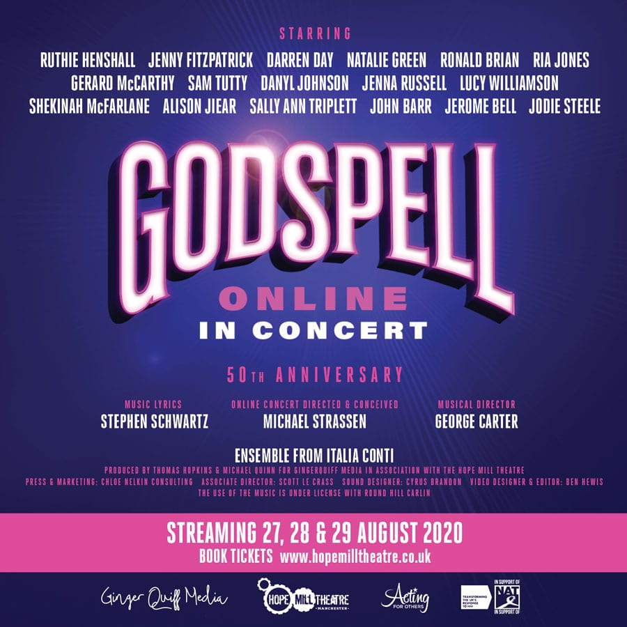 Godspell 50th Anniversary Concert to be streamed live online this August
