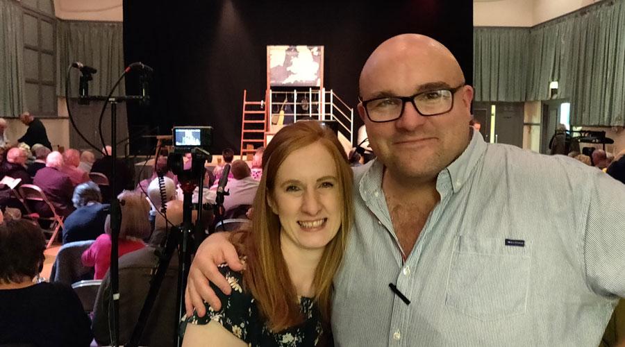 Mikron theatre company Artistic Director Marianne McNamara and Producer Pete Toon