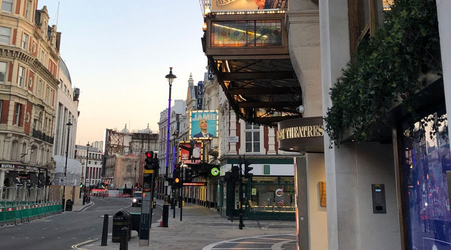 London theatres to close