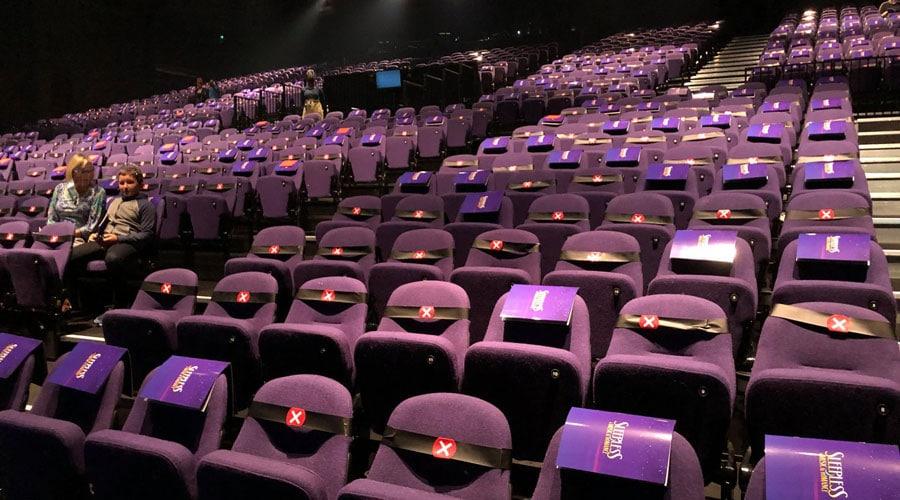 Socially distanced Troubadour Theatre Wembley. Photo: Mark Ludmon