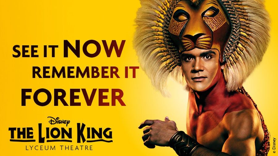 The Lion King musical tickets