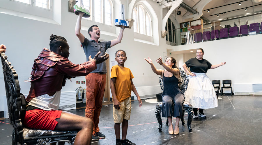 Emmanuel-Kojo-as-Beast,-Gavin-Lee-as-Lumiere,-Theo-Querico-as-Chip,-Disney's-Beauty-and-the-Beast-rehearsals.-Photo—Johan-Persson-©Disney[2]