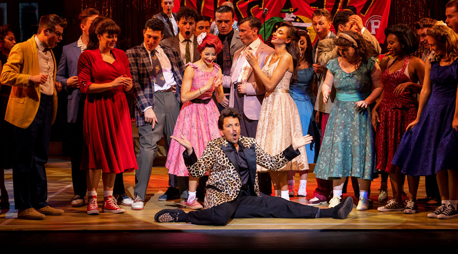 Peter-Andre-(front-centre)-as-Vince-Fontaine-in-Grease,-credit-Sean-Ebsworth-Barnes-(2)