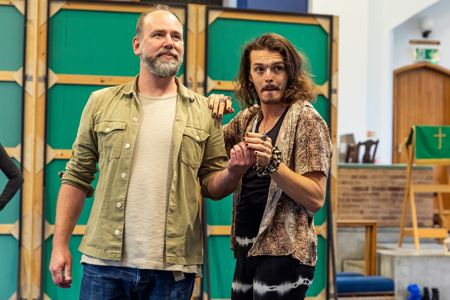 Rock Of Ages rehearsals